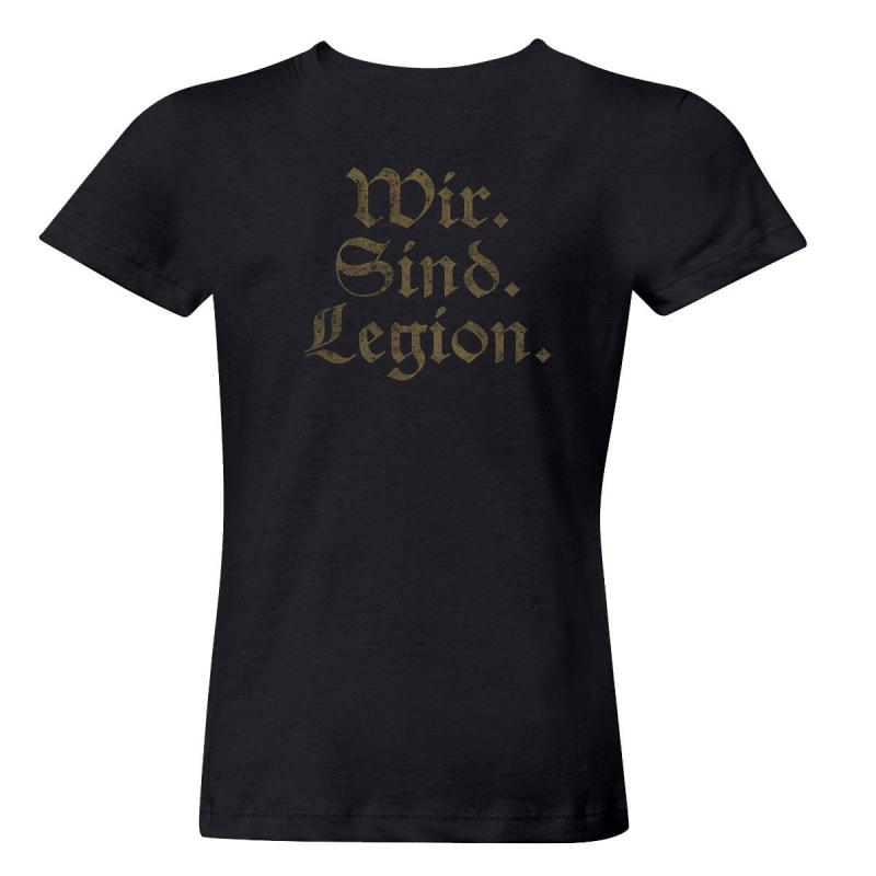 Helrunar - Wir Sind Legion Girlie-Shirt  |  S  |  black
