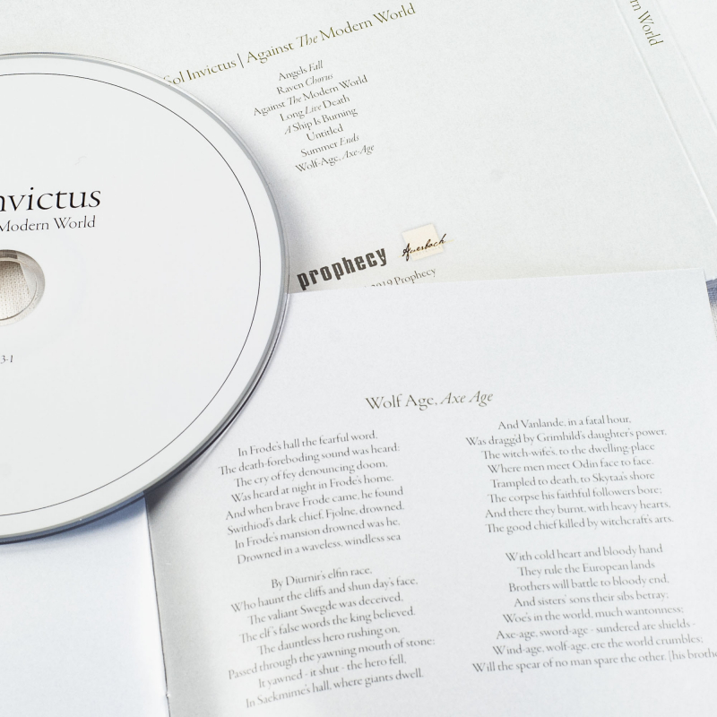 Sol Invictus - Against The Modern World CD Digipak (AB 033-1)